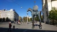 Moravské nám. se sochou Jošta Moravského
