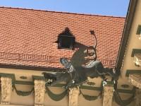 Brněnský drak na nádvoří Nové radnice